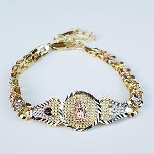 Guadalupe Gold Plated Bracelet Pulsera Virgen